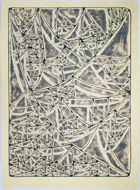 , 'Sagging Infected Triangular Grid,' 2011, Tamarind Institute