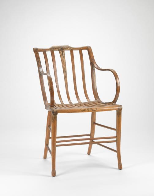 Samuel Gragg, 'Elastic armchair', ca. 1808, RISD Museum
