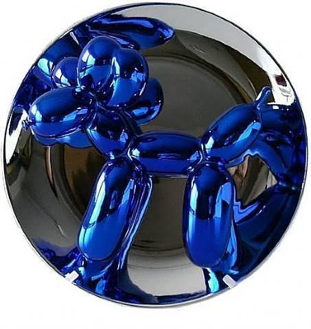 Jeff Koons, 'Balloon Dog (Blue)', 2002, Sculpture, Porcelain painted in chrome with original plastic stand and foam-lined cardboard box, Adam Biesk Inc.