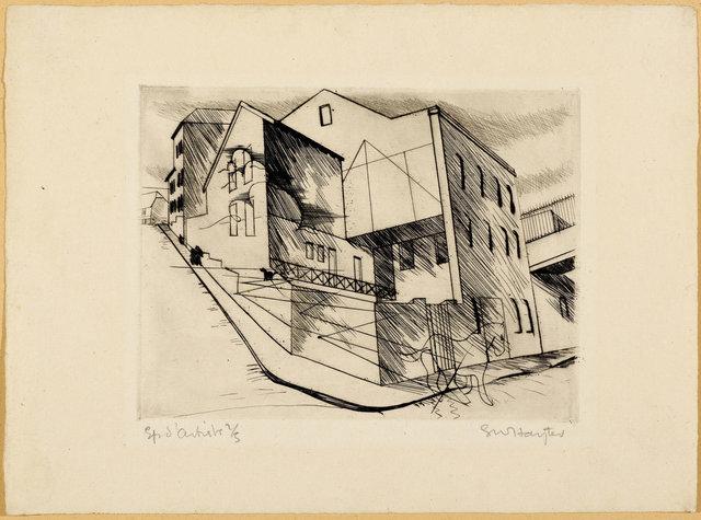 Stanley William Hayter, '2 sheets: La villette Rue de la villette', 1930, Print, Lot of 2 etchings and drypoint, Koller Auctions