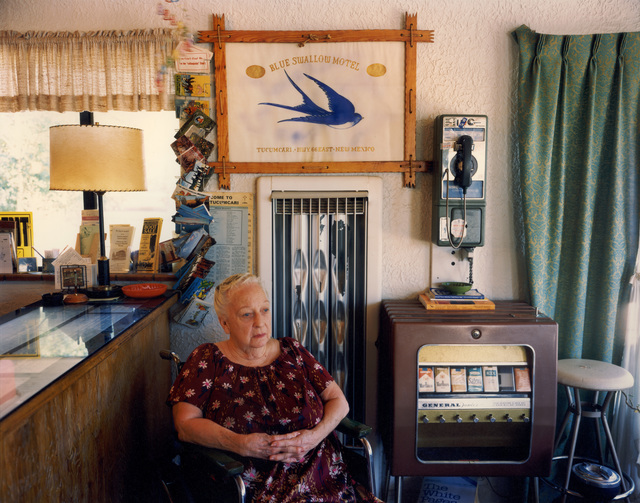 Steve Fitch, 'Lillian Redman, Blue Swallow Motel, Rt. 66, Tucumcari, New Mexico; July, 1990', photo-eye Gallery