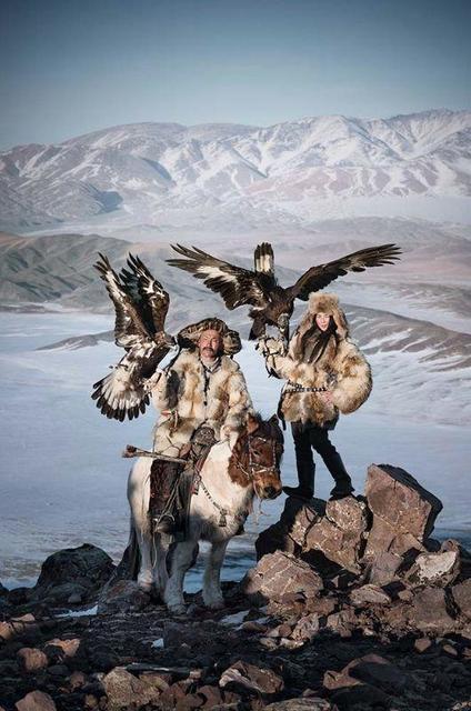 , 'XXX 116, Dalaikhan with girl, Khoyor Tolgoi Hill, Altan Tsogts County, Bayan Ulgii Provence, Mongolia,' 2017, Atlas Gallery