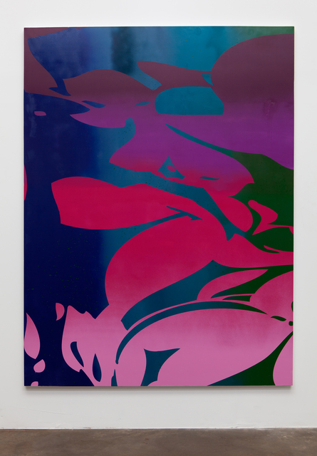 , 'Large Floral (purple, pink, blue, green),' 2015, Erin Cluley Gallery