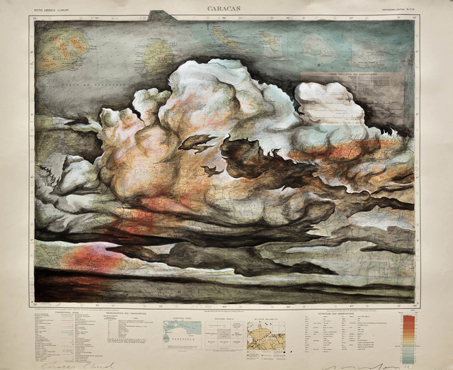 , 'Caracas Cloud: American Geographic Society of New York, 1945,' 2012, Art Bastion Gallery