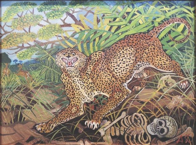 , 'Leopardo con scheletro,' 1959, Centro Steccata
