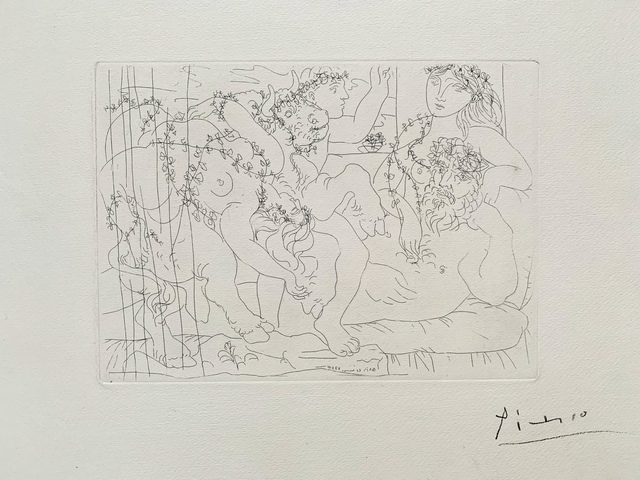 Pablo Picasso, 'Le Repos du Sculpteur devant une Bacchanele au taureau', 1933, Van der Vorst- Art