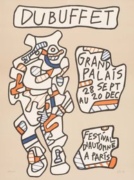 Jean Dubuffet, 'Affiche (Grand Palais, Festival d'Automne a Paris),' 1973, Heritage Auctions: Holiday Prints & Multiples Sale