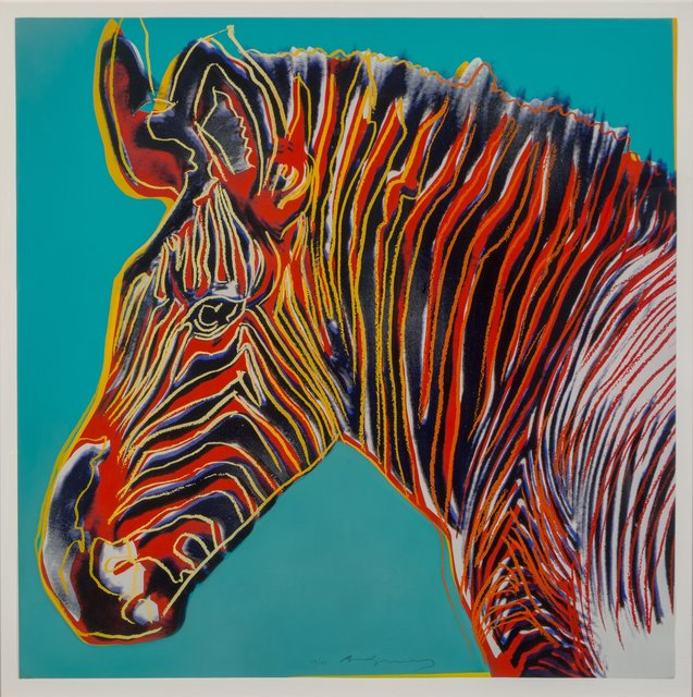 Andy Warhol, 'Grevy's Zebra, from Endangered Species', 1983, Heritage Auctions