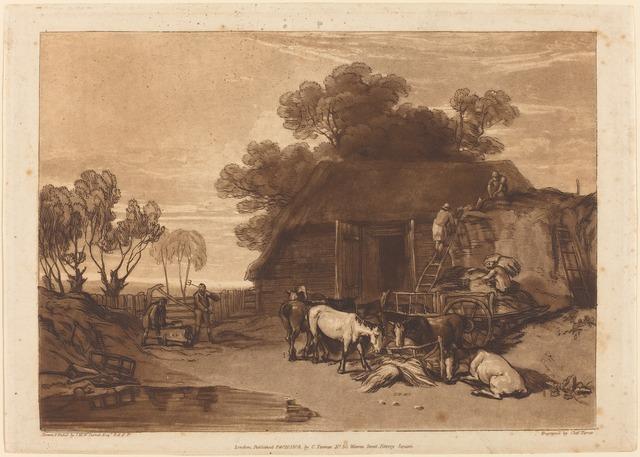 J. M. W. Turner, 'The Straw Yard', published 1808, National Gallery of Art, Washington, D.C.