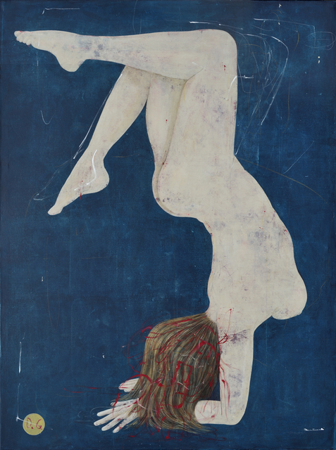 , 'Acrobat on blue,' 2016, Gachi Prieto