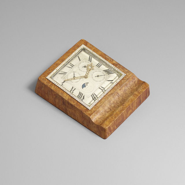 J.E. Caldwell, 'Perpetual calendar table clock', c. 1935, Wright
