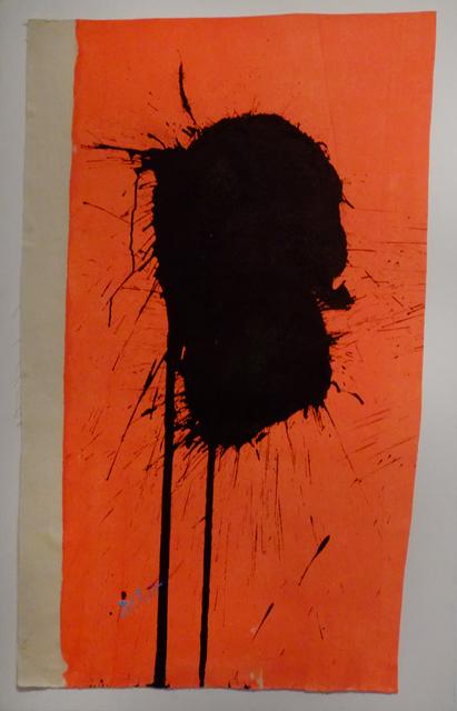 , 'Blue & Black on Orange – April 8, 2010,' 2010, Deborah Colton Gallery