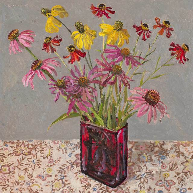 , 'Echinacea and cone flowers,' 2018, Jan Murphy Gallery