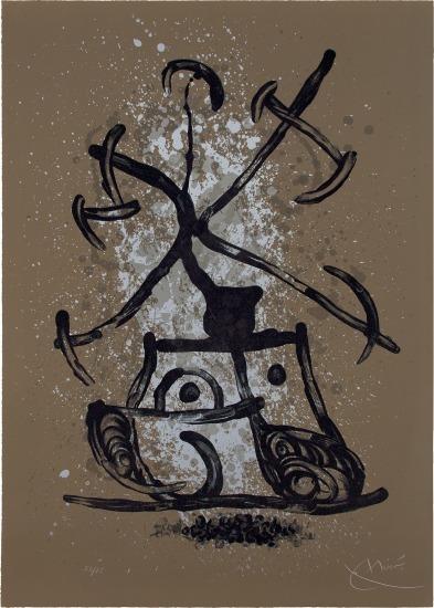 Joan Miró, 'L'Entraîneuse brun (The Brunette Enticer; The Teaser Brown)', 1969, Print, Lithograph in colors, on Rives paper, DANE FINE ART
