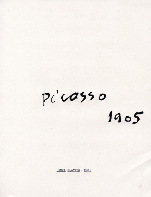 , 'Picasso (from the Typewriter Drawings series,' 2016, Catharine Clark Gallery