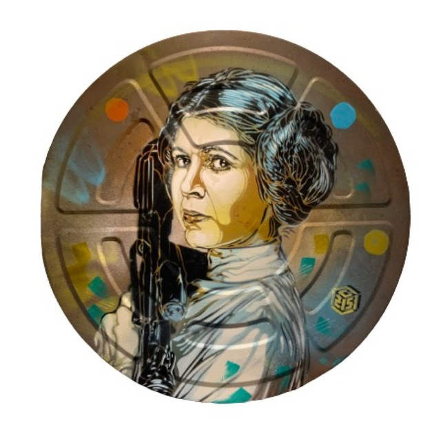 C215, 'Princess Leia', 2020, Painting, Spray paint and acrylic on metal, Galry