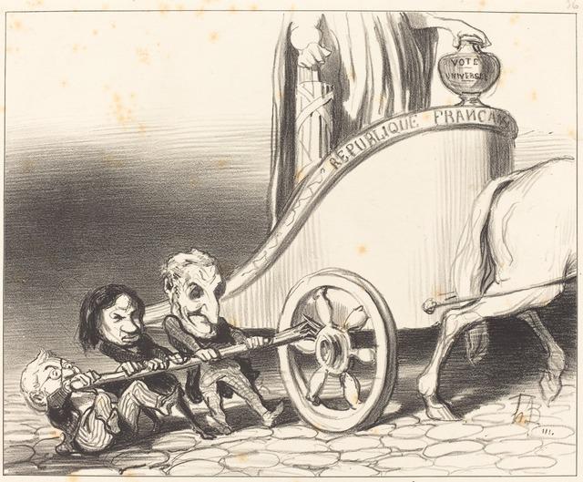 Honoré Daumier, 'Ce char marchera toujours...', 1849, National Gallery of Art, Washington, D.C.