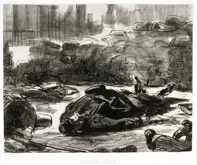 Édouard Manet, 'Guerre civile (Civil War)', 1871, Blanton Museum of Art