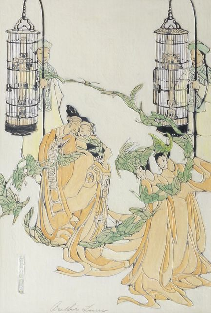 Bertha Lum, 'Butterfly Dance, and Untitled', Roseberys