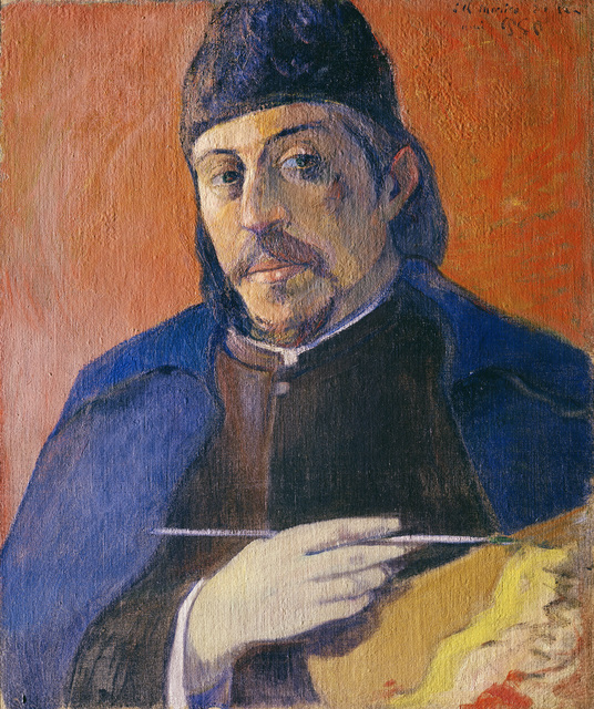 , 'Autoportrait à la palette (Self-Portrait with Palette),' ca. 1893, Fondation Beyeler