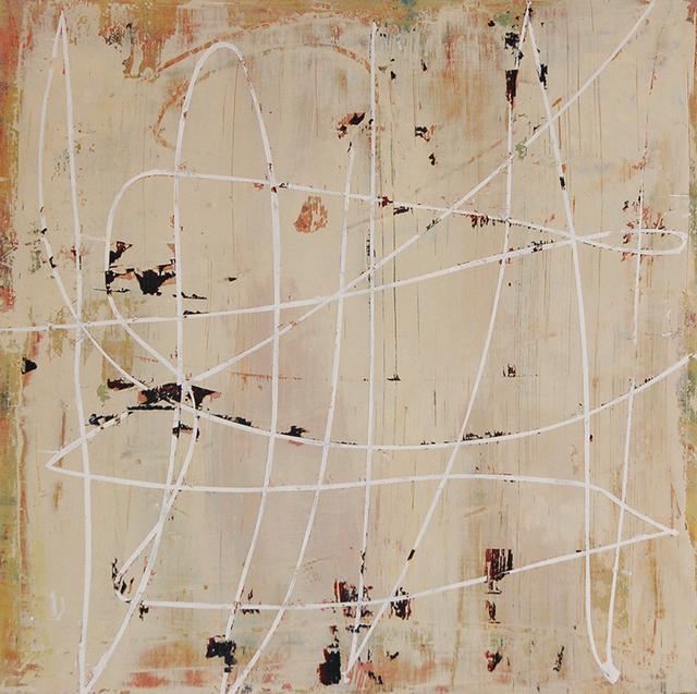 Mary Didoardo, 'White Loop on Tan', 2013, Kathryn Markel Fine Arts