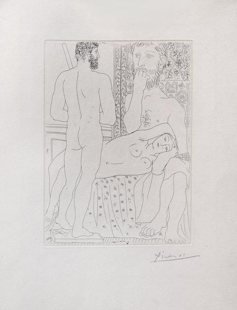 , 'Sculpteur, modèle couché et autoportrait en Hercule sculpté,' 1933, Galerie Raphael