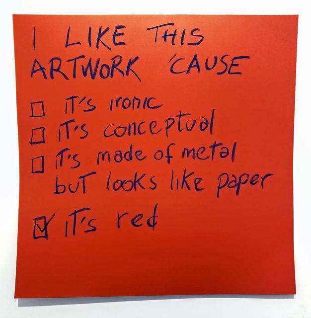 , 'RED,' 2018, Galerie Vivendi
