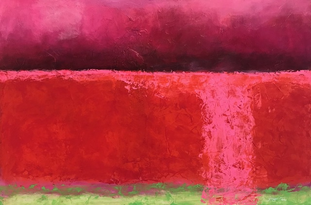 , 'Red Zone,' 2018, Ginger Fox Gallery
