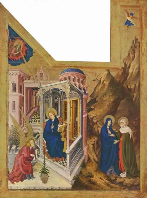 Melchior Broederlam, 'Champmol Altarpiece, wings of the altarpiece for the Chartreuse de Champmol', 1393-1399, Painting, Oil on wood panel, Art History 101