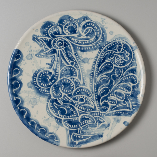 Carlos Luna, 'Talavera Plate', 2010, Heather James Fine Art