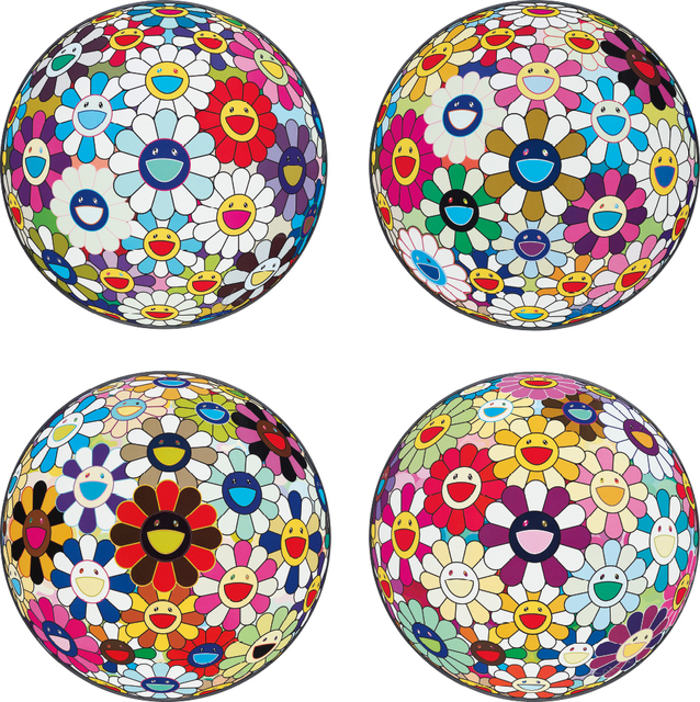 Takashi Murakami, 'Flower Ball (3-D) Sequoia semperivens; Flower Ball (3-D) Autumn 2004; Flower Ball (Lots of Colors); and Flowerball sexual Violet No.1 (3D)', 2013, Phillips