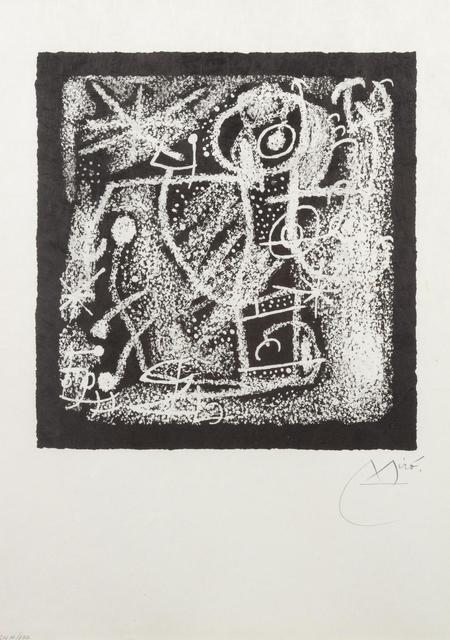 Joan Miró, 'Les Essencies de la Terra (one plate from the deluxe edition)', 1968, Hindman
