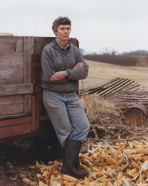 , 'A Farmer Taking a Break, Iowa, November 1987, She Has Cancer of the Thyroid,' 1987, Buchmann Galerie