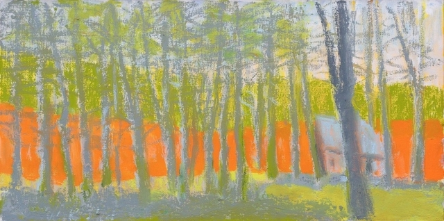 , 'Bright Orange, Pale Yellow, and Gray,' 2014, Galerie de Bellefeuille