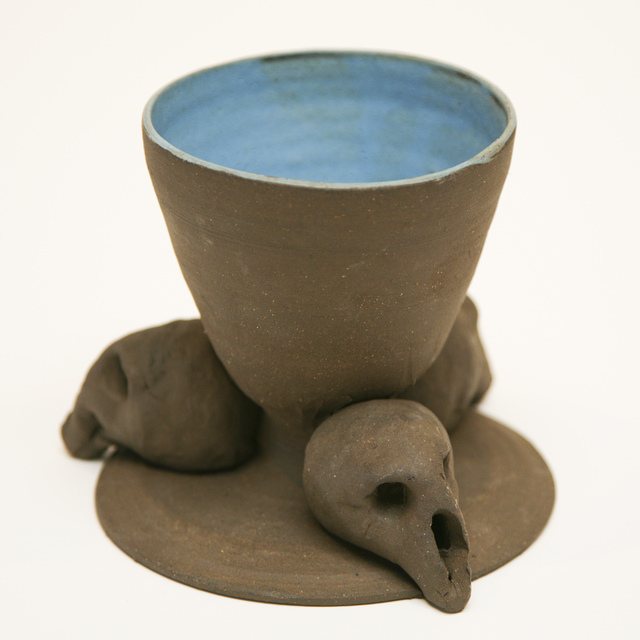 , 'Blue Bowl with Skull Base,' 2015, David Richard Gallery