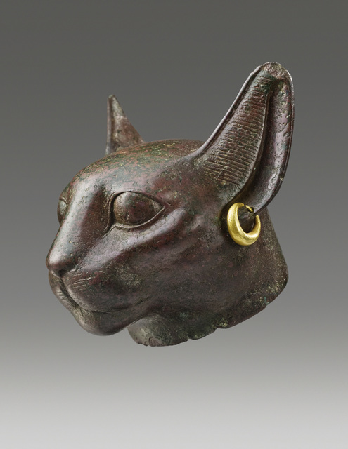 , 'ANCIENT EGYPTIAN HEAD OF THE GODDESS BASTET,' Third Intermediate Period, ca. 1070, 712 B.C., Phoenix Ancient Art