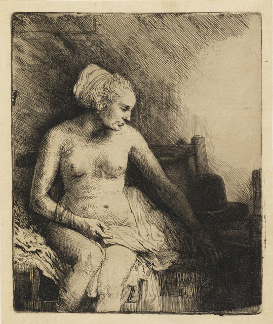 , 'Woman at the Bath with a Hat beside her,' 1658, The National Gallery, London