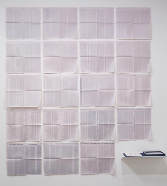 , '(Stylus - Newspaper/Record),' 2010, Josée Bienvenu