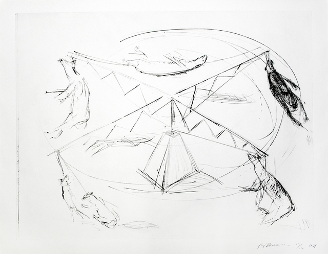 Bruce Nauman, 'Large Carousel, State I', 1988, Print, Drypoint printed in black on Somerset Satin paper, Brooke Alexander, Inc.