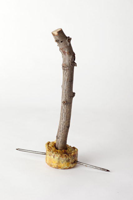 , 'Emergency Weapon #29 (frothy ochre with twig),' 2002, VENUS