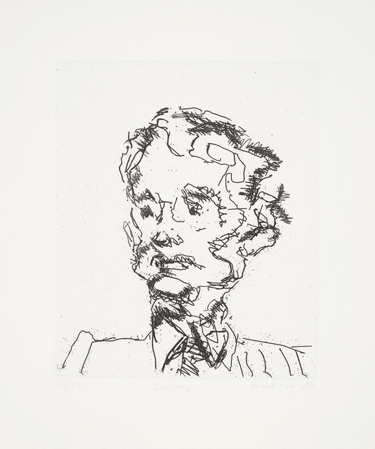 Frank Auerbach, 'Geoffrey, from Seven Portraits', 1989-90, Phillips
