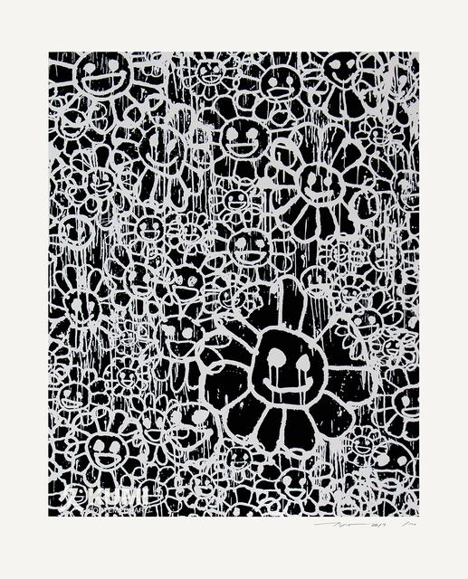 Takashi Murakami, 'Murakami x MADSAKI Flowers Black A', 2017, Kumi Contemporary / Verso Contemporary
