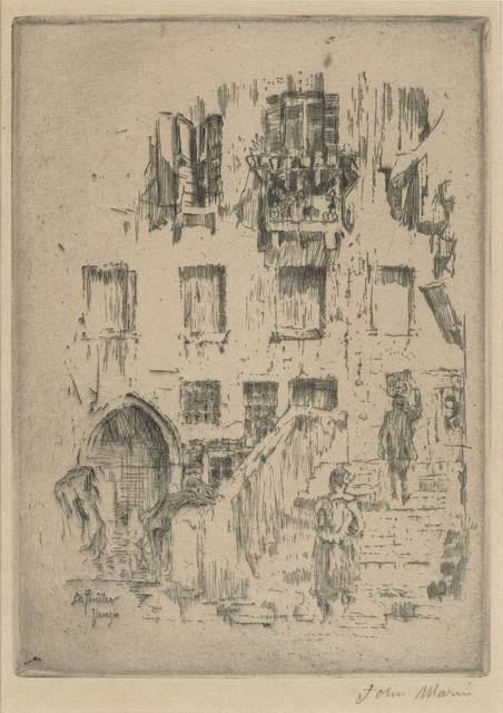 John Marin (1870-1953), 'SANTA MARIA DELLA SALUTE, VENICE; WINDOW, VENICE; PLACE ST. JACQUES, PARIS (ZIGROSSER 53; 62; 77)', 1907, Doyle