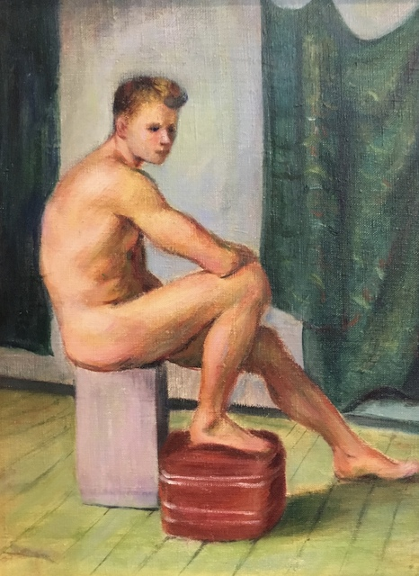 , 'Male On Box,' , Bakker Gallery