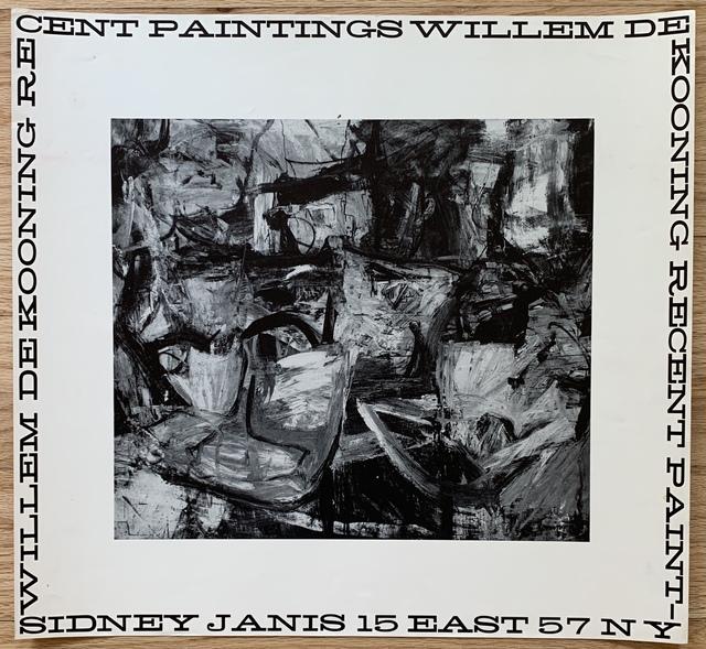 Willem de Kooning, 'Original Sidney Janis Gallery Exhibition Poster', 1956, Kwiat Art