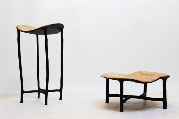, 'Pedestal tables,' 2014, Galerie Gosserez