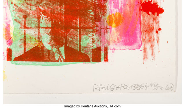 Robert Rauschenberg, 'Storyline II, from Reels (B+C)', 1968, Print, Lithograph in colors on wove paper, Heritage Auctions