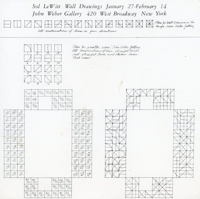 , 'John Weber Gallery, Sol Lewitt, Wall Drawings, Card,' 1974, James Fuentes