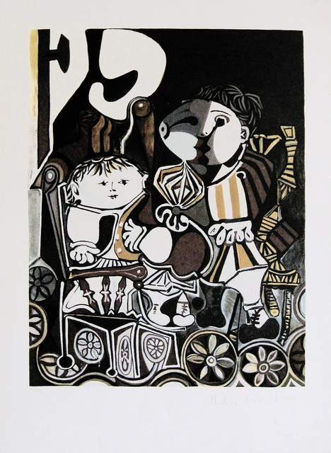 Pablo Picasso, 'CLAUDE ET PALOMA', 1979-1982, Reproduction, LITHOGRAPH, Gallery Art