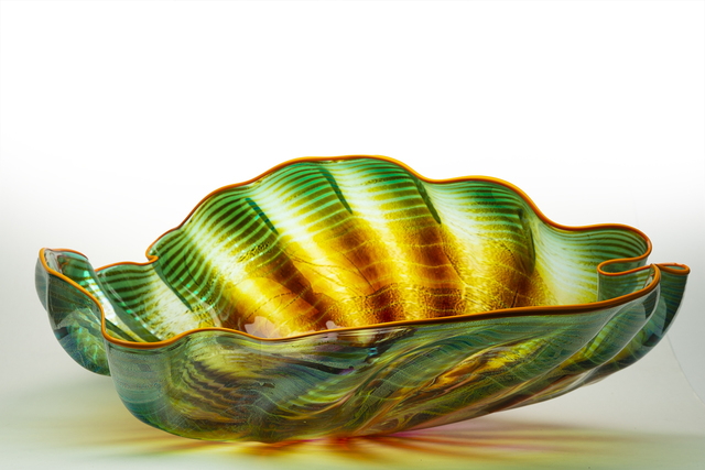 Dale Chihuly, 'Dale Chihuly Original Large Fade Green Seaform with Orange Lip Wrap Contemporary Glass Art ', 1992, Modern Artifact